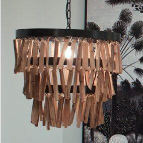 lampara de flecos mimma gallery