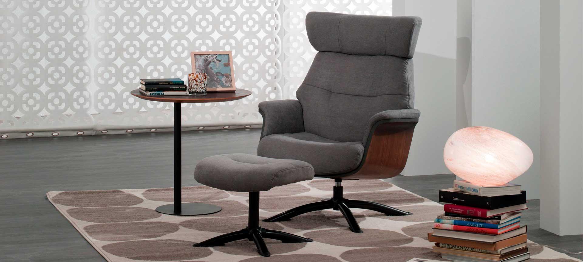 sillon relax de diseño gris Sound mimma gallery