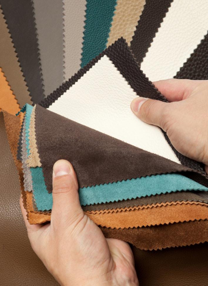 Distintas telas para sofás a medida en Mimma Gallery