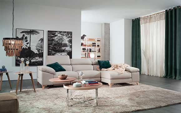 decoración salón sofá rinconera luton