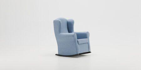 sillon balancín azul roger mimma gallery