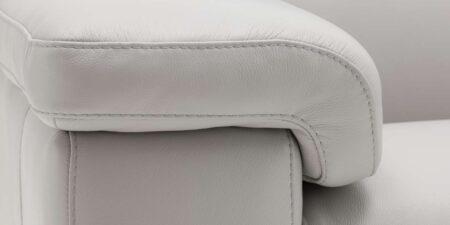 sofá de piel gris berilo mimma gallery