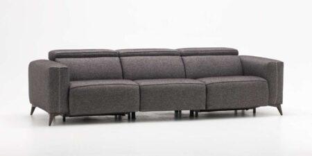 sofá tres plazas gris hanoi mimma gallery