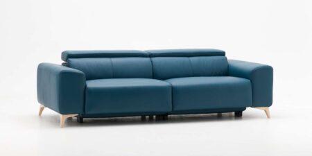 sofá de piel azul java mimma gallery