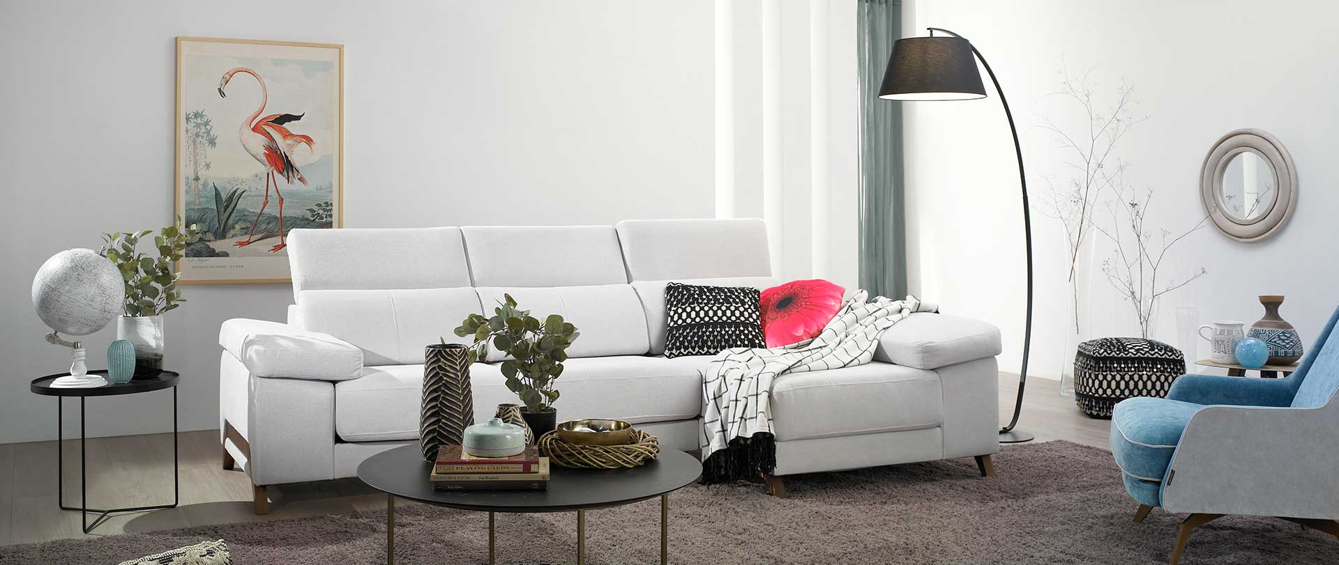 sofa blanco chaiselongue candy