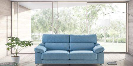 decoración salón sofá dos plazas azul misuri mimma gallery