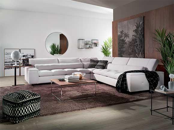 decoración salón sofa esquinero Luxury