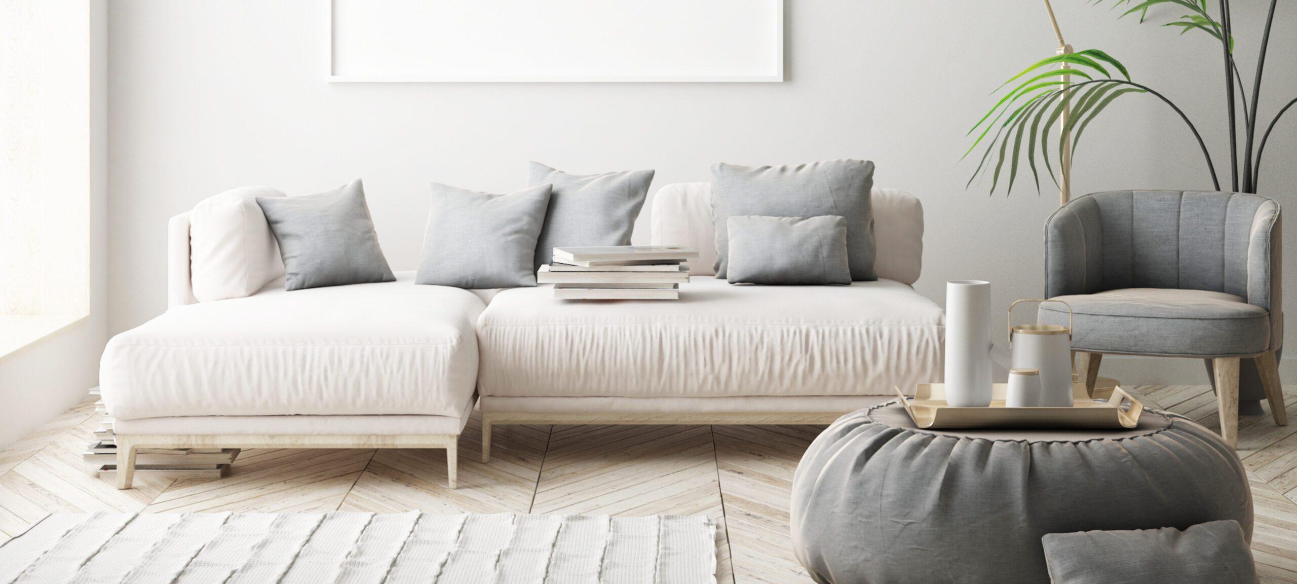 sofa rinconera blanco comedor estilo nordico