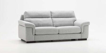 sofá de dos plazas gris sena mimma gallery